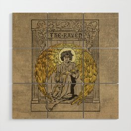 The Raven. 1884 edition cover Wood Wall Art