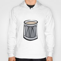 drum Hoodies featuring Drum by shopaholic chick