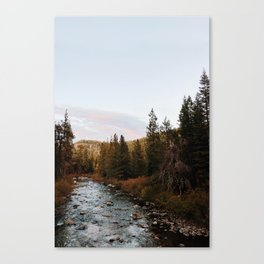Truckee River Sunset Canvas Print
