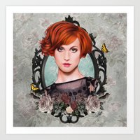 hayley williams Art Prints featuring Hayley Williams  by Will Costa