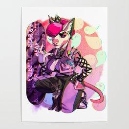 Bear -&- Belle Pastel Goth Poster