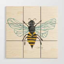 Honey Bee Wood Wall Art