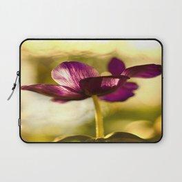 Glowing Purple Flower #decor #buyart #society6 Laptop Sleeve