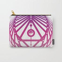 Radiant Abundance (white-warm purple) Carry-All Pouch