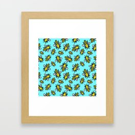 Honey Bee Swarm Framed Art Print