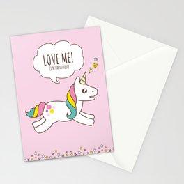 Valentine's Day - Love Me Unicorn Stationery Cards