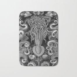 The Kraken (Black & White - No Text) Bath Mat