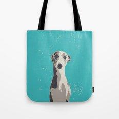 Greyhound sad art print Tote Bag