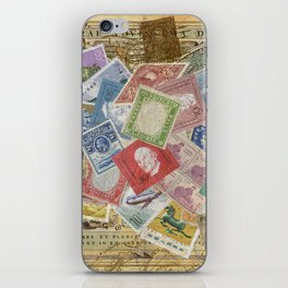 World Stamps iPhone Skin