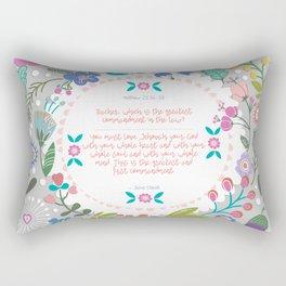 The Greatest Commandment Rectangular Pillow