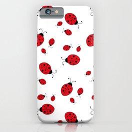 Ladybugs on White iPhone Case