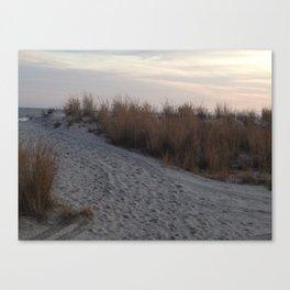 Beach at Atlantic City during Sunset Canvas Print