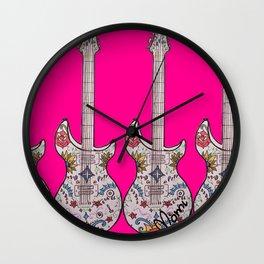 PinkGuitar! Wall Clock