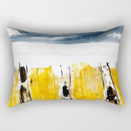 Three Flying Figures Rectangular Pillow