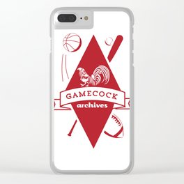 Gamecock Archives Primary Logo Clear iPhone Case
