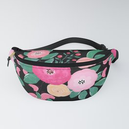 Stylish abstract creative floral paint Fanny Pack
