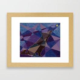 """ Wolf Design Hole Punch "" Framed Art Print"