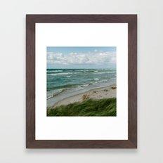 Windy Day on Lake Michigan Framed Art Print