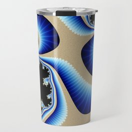 Blue Clamshells with Eyes Travel Mug