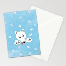 Snow Life Stationery Cards