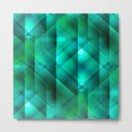 Facets of the Stone (emerald) Metal Print