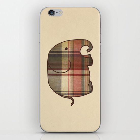 Plaid Elephant  iPhone & iPod Skin