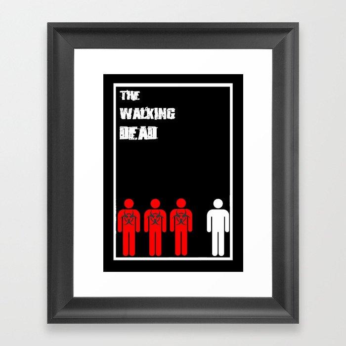 The Walking Dead Minimalist Framed Art Print