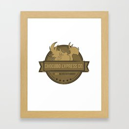 Chocobo Express Co. Framed Art Print