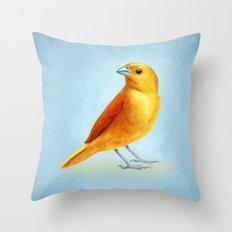 Wild Canary Throw Pillow