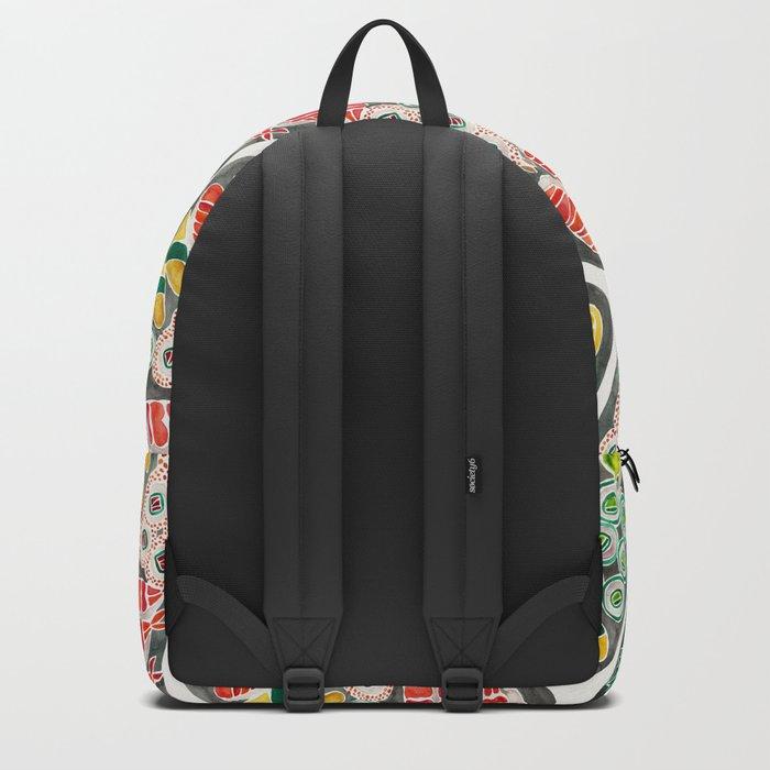Sushi Collection – Black Platter Backpack