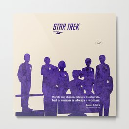 Star Trek 46th Anniversary - James T. Kirk quote Metal Print