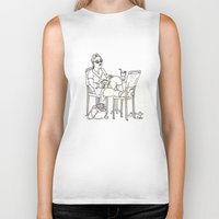 sci fi Biker Tanks featuring Sci Fi Afternoon by Madmi