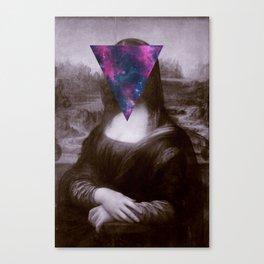 Hipster mona lisa Canvas Print