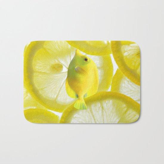 Lemon Fish Bath Mat