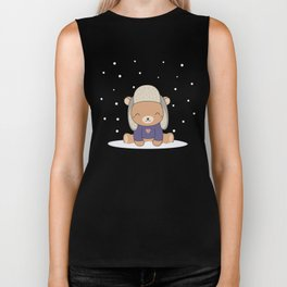 Kawaii Cute Winter Bear Biker Tank