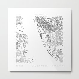 Liverpool Figure Ground Metal Print
