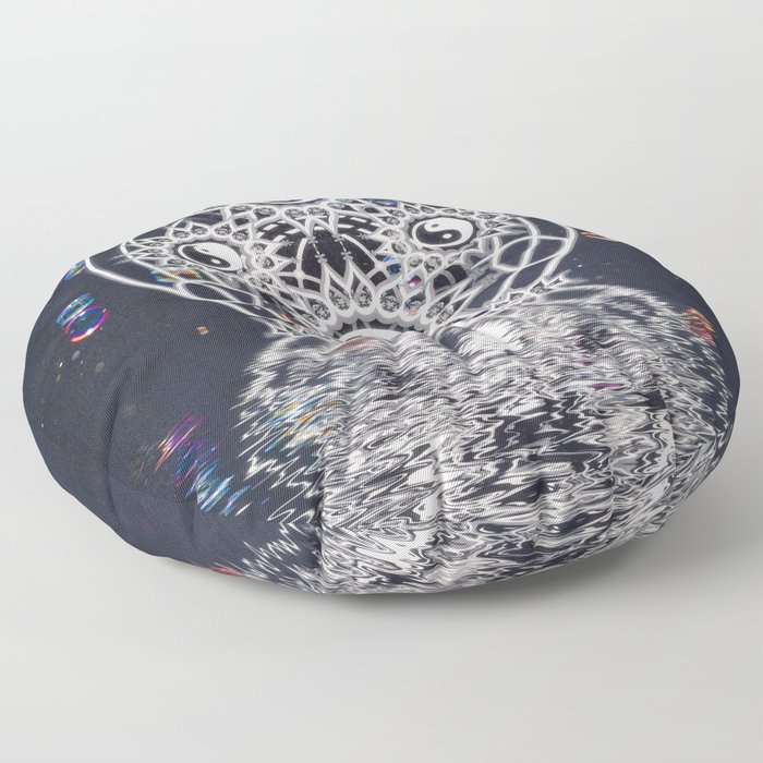 Yin Yang Symmetry Balance Reflection Floor Pillow