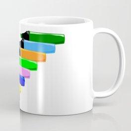 Highlighter Pens In Line Coffee Mug
