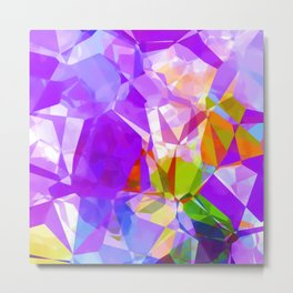 Purple Mix Abstract Metal Print