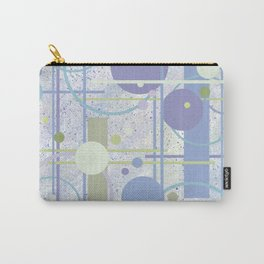 Mid Century Modern Abstract, Lilac, Purple, Green Carry-All Pouch
