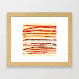 Just Stripes, Hesitant Vermillion Framed Art Print
