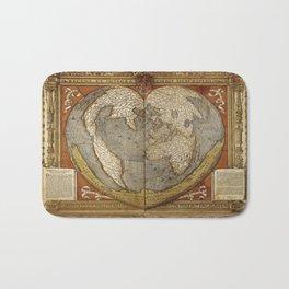 Heart-shaped projection map Bath Mat