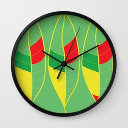 Nature Colorful Leaves Wall Clock