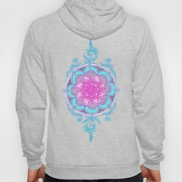 Pink, Purple and Turquoise Super Boho Doodle Medallions Hoody