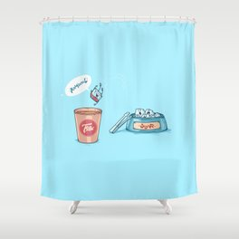 Kamikaze ( Concept Funny illustrations) Shower Curtain