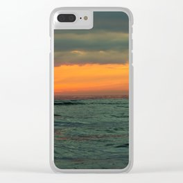 sunset over the Baltic Sea Clear iPhone Case