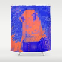 furry Shower Curtains featuring Furry Streets by Tyler Spangler