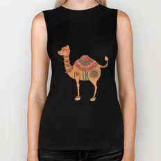 The Ethnic Camel Biker Tank