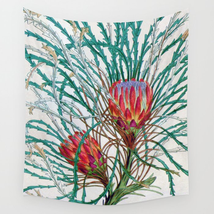 A Protea flower Wall Tapestry