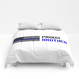 Police: Proud Brother (Thin Blue Line) Comforters